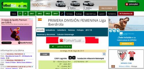 Futbolme futbol femenino