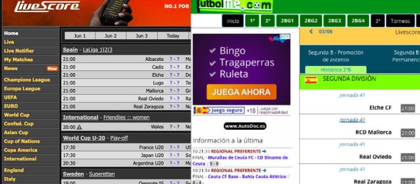 Livescore o Futbolme