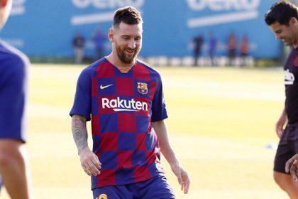 Leo Messi vuelve a entrenar