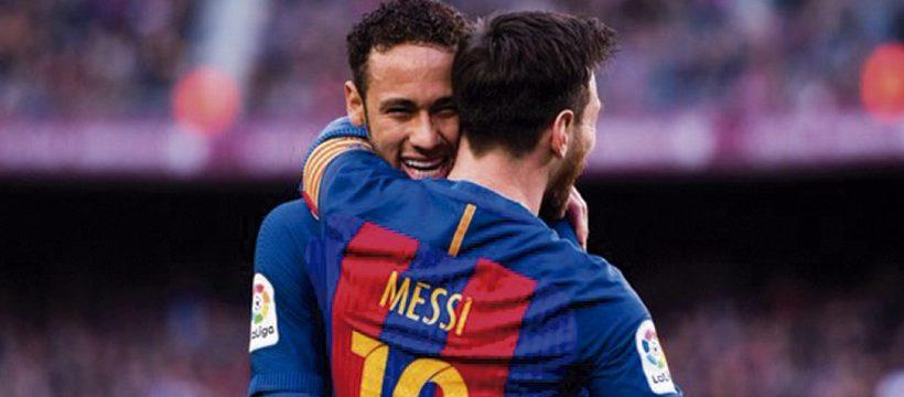 Messi llama a Neymar