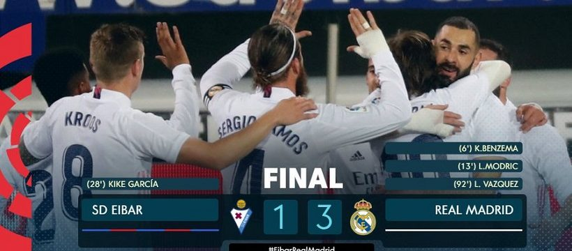 Eibar 1 Real Madrid 3